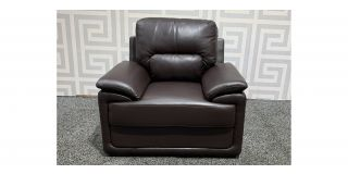 Peru Brown Leathaire Armchair Ex-Display Showroom Model 48428