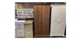 Richmond Brown 2 Door Wardrobe Clerance 48461-DW