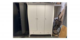 Roque White 3 Door 2 Drawer Wardrobe Clerance 48463-DW