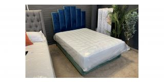 Ocean Blue And Green 4FT6 Bed Includes Headboard - Clerance - Without Mattress - Mattresses From £149 - 48465-DW