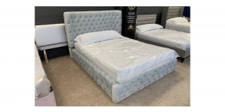 Shadow King 4FT6 Bed With Button Detailing Includes Headboard - Clerance - Without Mattress - Mattresses From £149 - 48468-DW