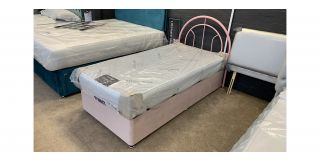 Pink Single Metal Headboard Bed - Clerance - Without Mattress - Mattresses From £149 - 48469-DW