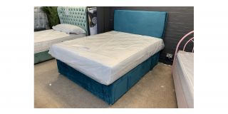 Teal King 5ft Divan Set With 4 Drawers Includes Headboard - Clerance - Without Mattress - Mattresses From £149 - 48470-DW