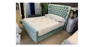 Kiwi Designer Double 4FT6 Bed Includes Headboard - Clerance - Without Mattress - Mattresses From £149 - 48471-DW