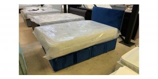 Small Double Divan With 4 Drawers And Chrome Feet Includes Headboard - Clerance - Without Mattress - Mattresses From £149 - 48478-DW