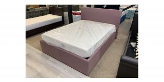 4FT6 Double Ottoman Mauve Fabric Bed Includes Headboard - Clerance - Without Mattress - Mattresses From £149 - 48481-DW