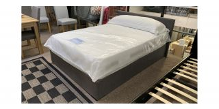 Rado Grey Fabric 4FT6 Ottoman Storage Bed Includes Headboard - Clerance - Without Mattress - Mattresses From £149 - 48490-DW