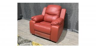 Montreal Red Leather Electric Recliner Armchair With USB Ex-Display Showroom Model 48511