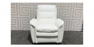 Relax White Leather Armchair Manual Recliner Ex-Display Showroom Model 48537