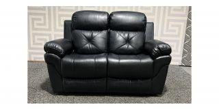 Gizelle Black Leathaire Regular Sofa Manual Recliner Ex-Display Showroom Model 48541