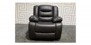 Roma Brown Bonded Leather Armchair Manual Recliner Ex-Display Showroom Model 48542