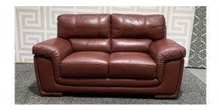 Sisi Italia Semi-Aniline Burgundy Regular Leather Sofa - Few Scuffs (see images) Ex-Display Showroom Model 48545