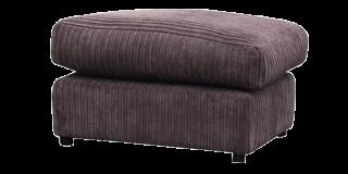 Dylan Footstool Chocolate Rhino Fabric Jumbo Cord