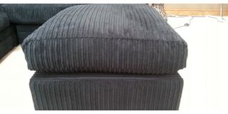 Dylan Footstool Black Jumbo Cord
