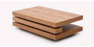 Fraser Rectangular Coffee Table Oak Veneer with Knots