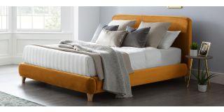 Madrid Bed Frame King 5FT Gold