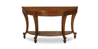 York Console Table with Cherry Distress Finish and Birch Veneer